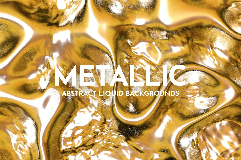 多款抽象液体金属高清背景图素材集