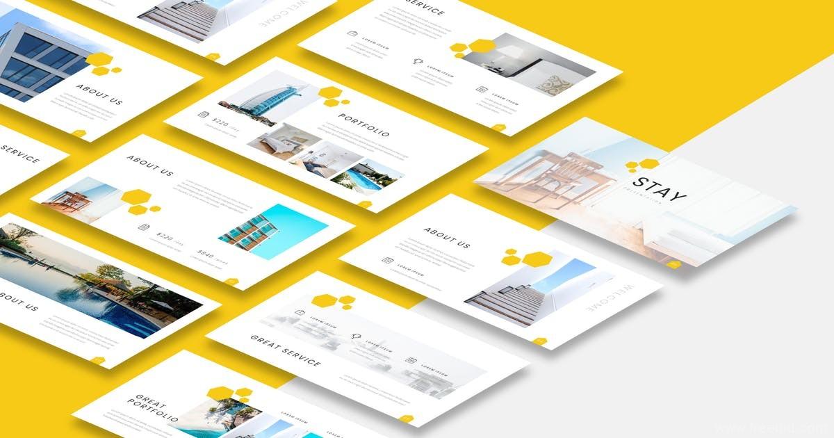 设计师作品集Keynote幻灯片演示模板、小清新设计师作品包装展示幻灯片模板下载