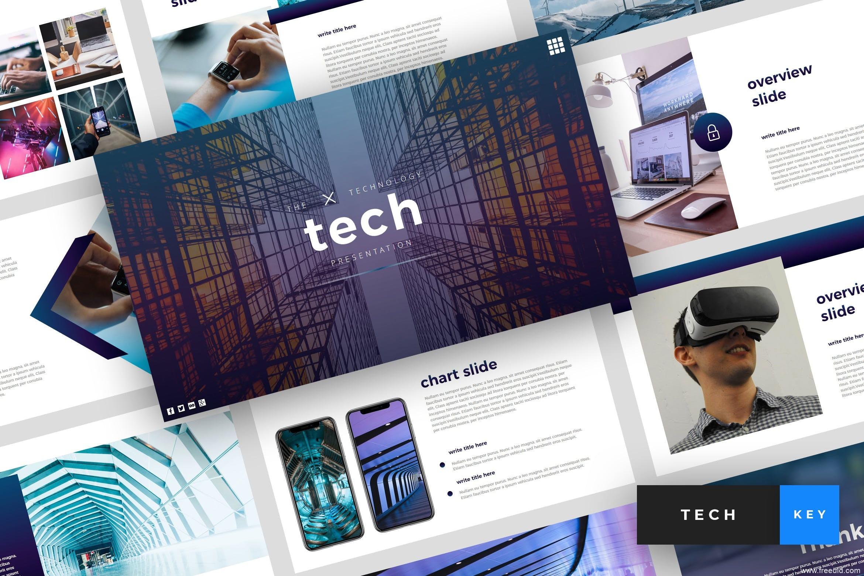 科技感个人作品集展示幻灯片ppt模板、设计师作品集包装ppt模板、企业官方宣传keynote模板