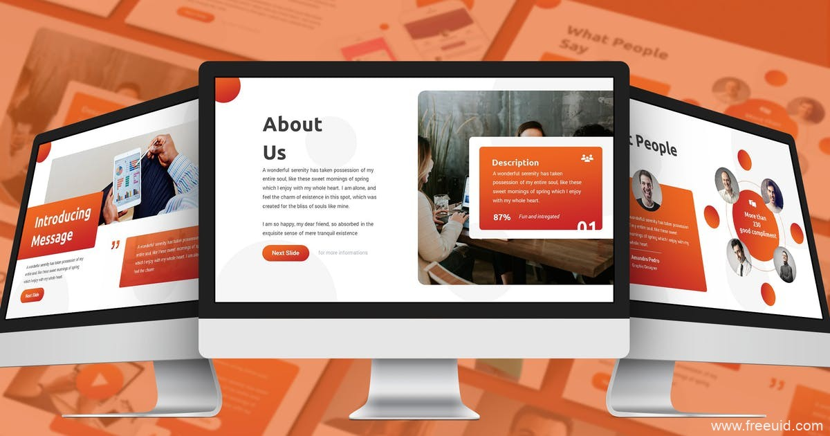 企业商务展示PPT幻灯片模板、创意机构Google幻灯片模板下载