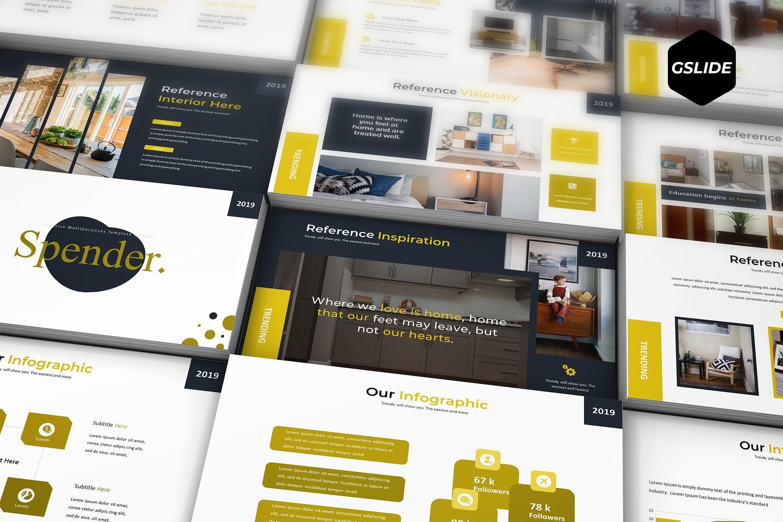 5种配色商业包装展示PPT幻灯片模板、大学生毕业答辩PPT模板、设计师作品集包装PPT幻灯片模板