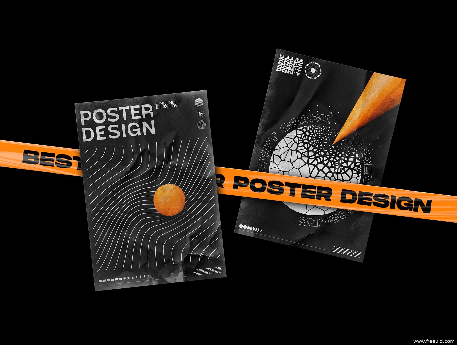200个用于流行作品集包装的抽象形状+褶皱背景素材集,酸性设计素材包,高端设计作品集包装素材AI,EPS,PSD源文件下载