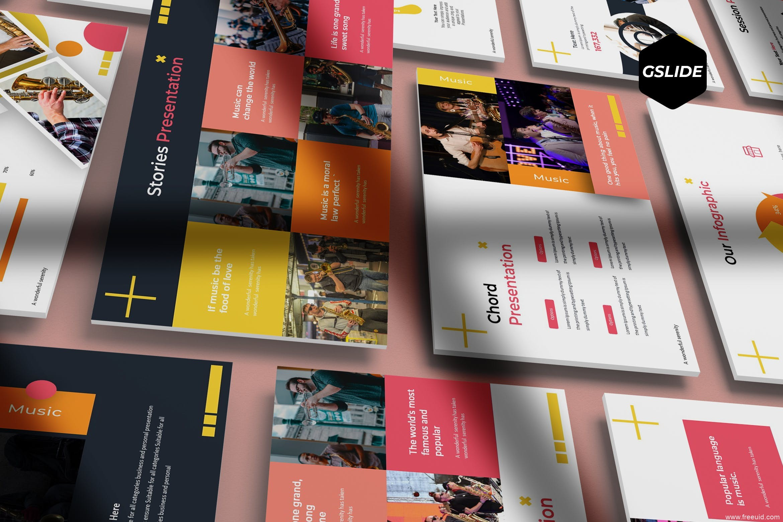 5款色系个人作品集展示PPT幻灯片模板下载、设计师作品集包装展示PPT模板下载