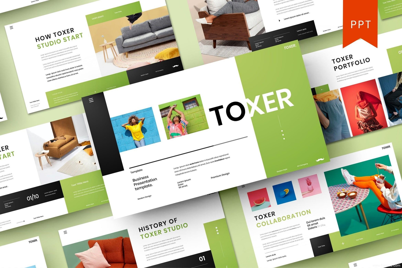 高端简约商业产品PPT幻灯片演示模板、设计师作品集包装展示PPT幻灯片模板下载