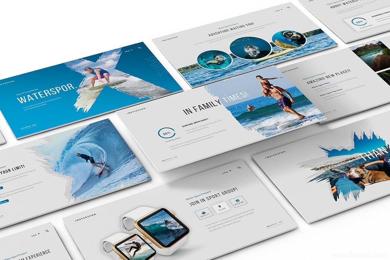创意图片展示PPT幻灯片模板、设计师个性作品集包装PPT幻灯片模板下载