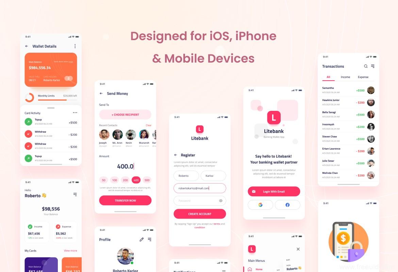 一套金融钱包app UI资源下载,银行app UI源文件下载,电子货币app UI资源psd源文件下载