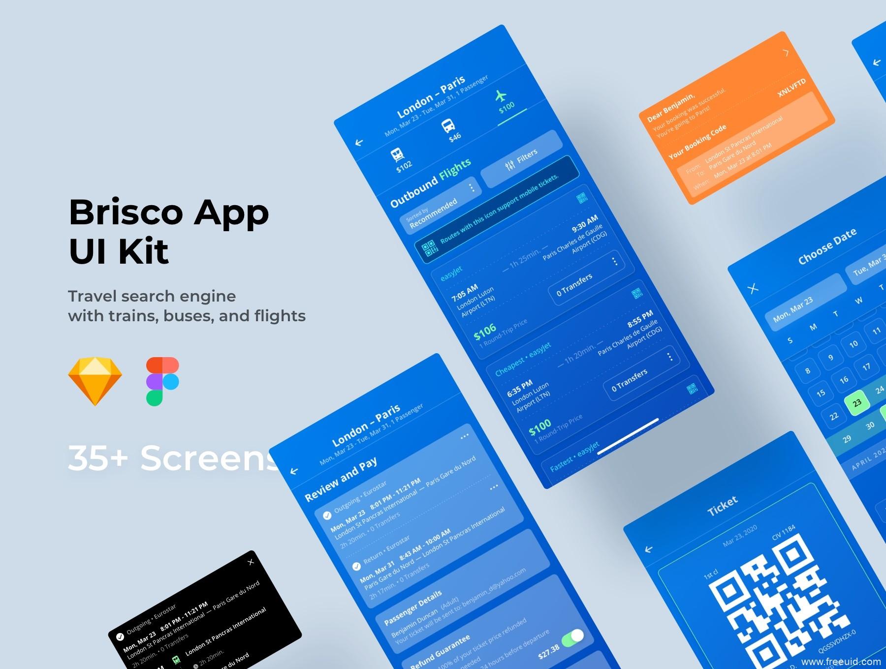 交通出行app ui源文件下载,机票、火车票、公交汽车UI资源下载,sketch源文件,figma源文件