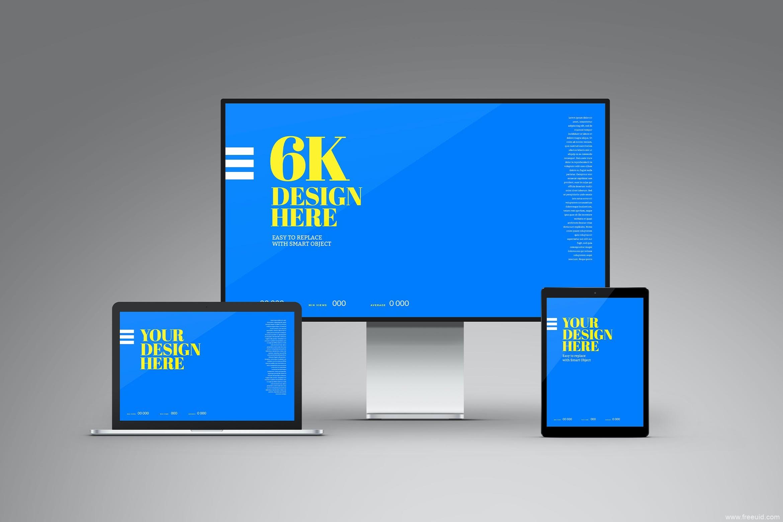 MacBook Pro,iPad平板电脑&XDR显示器屏幕样机 Laptop Pro, Tablet & Display XDR Mockup