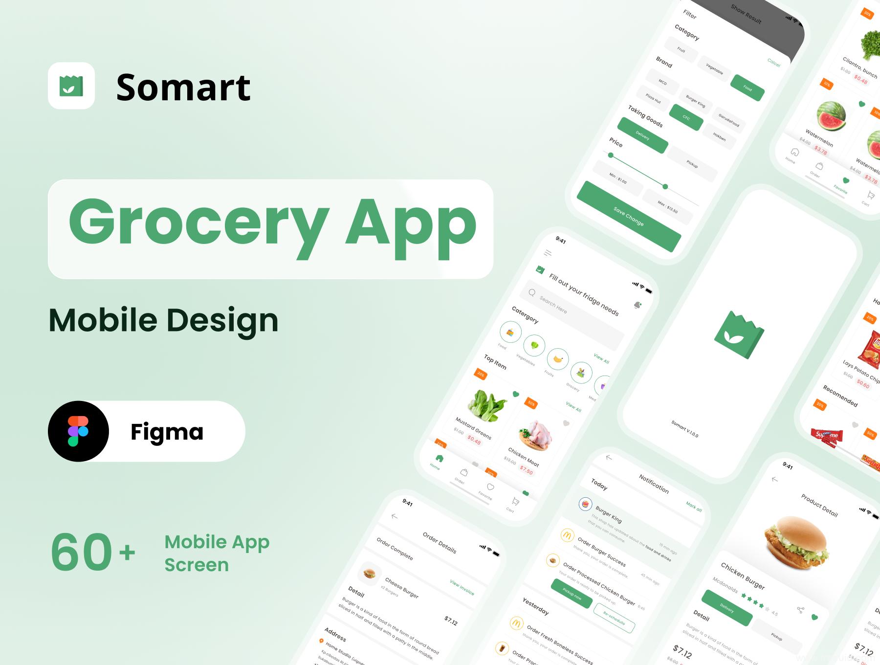 一套生鲜电商app ui界面设计模板下载,买菜app ui源文件,社区电商、社区团购应用UI资源下载