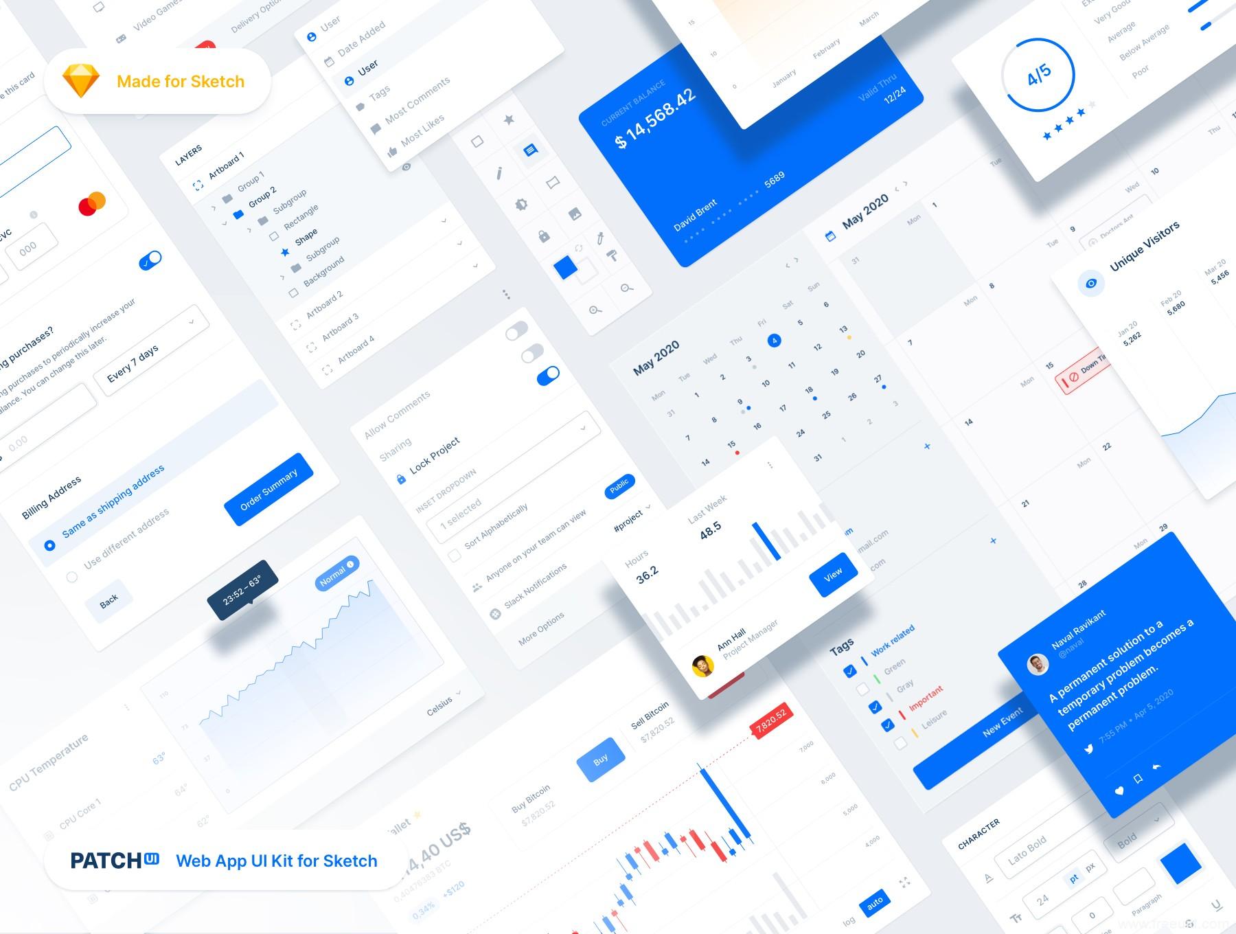 超全B端页面UI组件sketch套件下载,B端产品网页设计UI kit sketch源文件