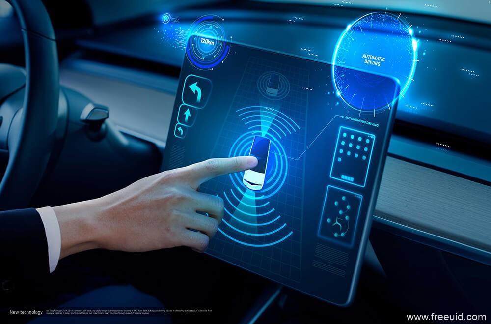 车机系统UI展示mockup样机模板,汽车HMI 界面展示样机psd源文件2