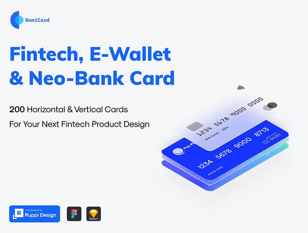 200张金融卡片UI设计源文件,银行卡UI素材下载,信用卡片UI界面设计资源