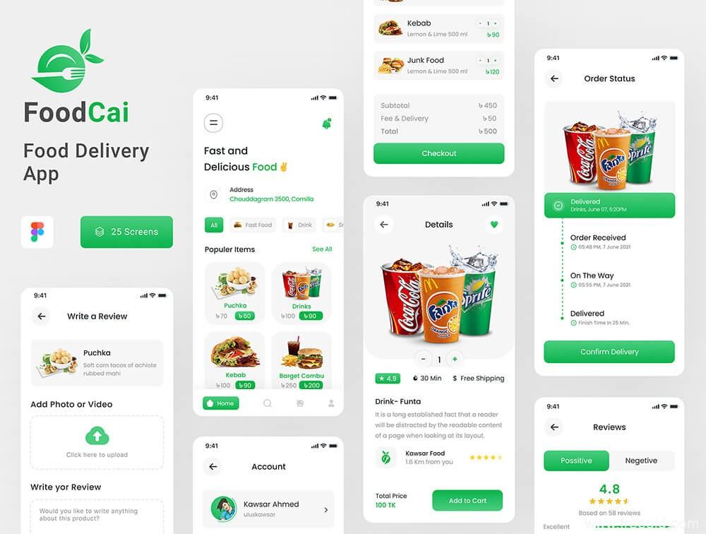 社区团购app、外卖app、成套完整美食电商app UI源文件下载,外卖电商app UI资源下载