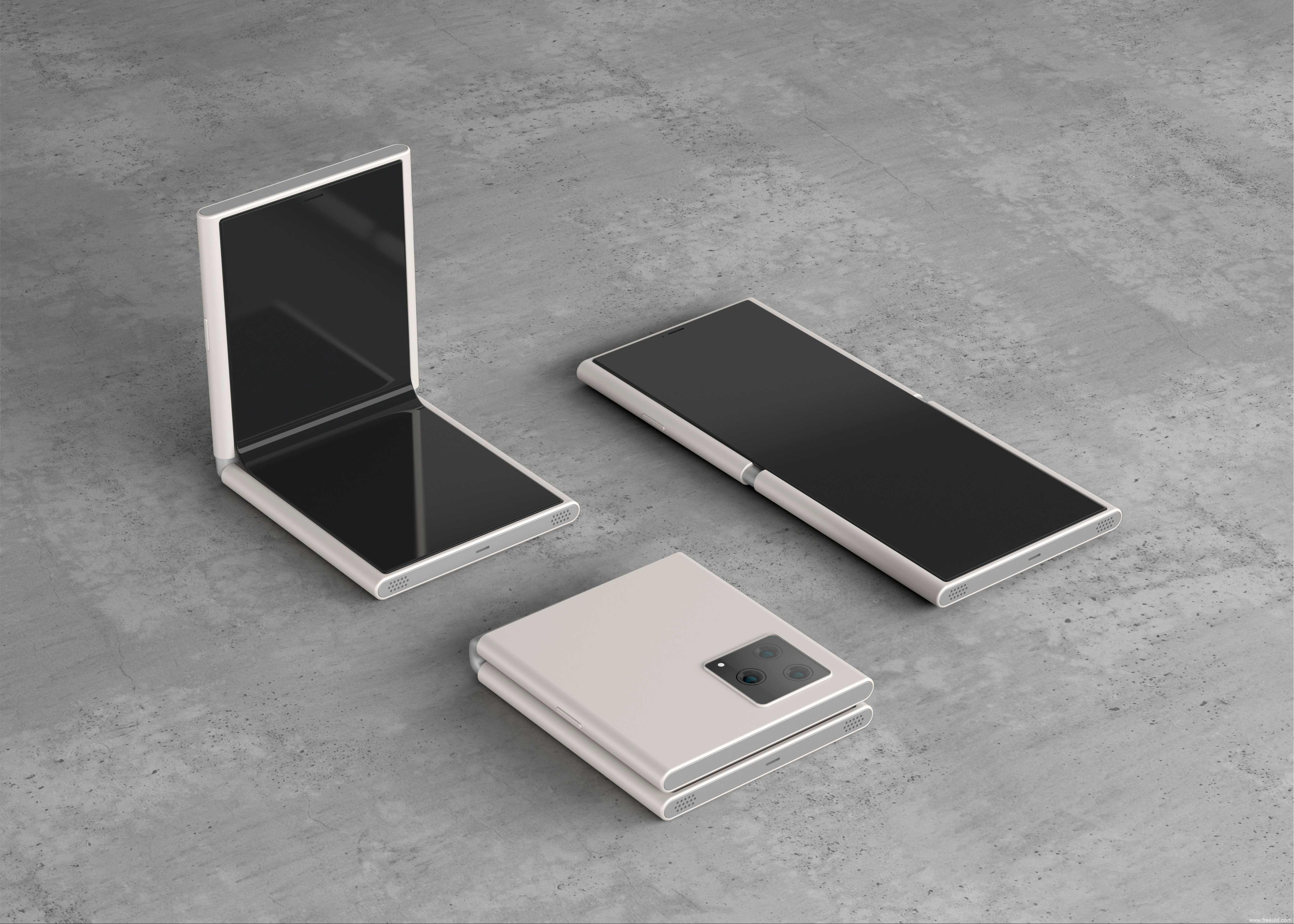 免费折叠屏手机mockup样机模板psd源文件下载