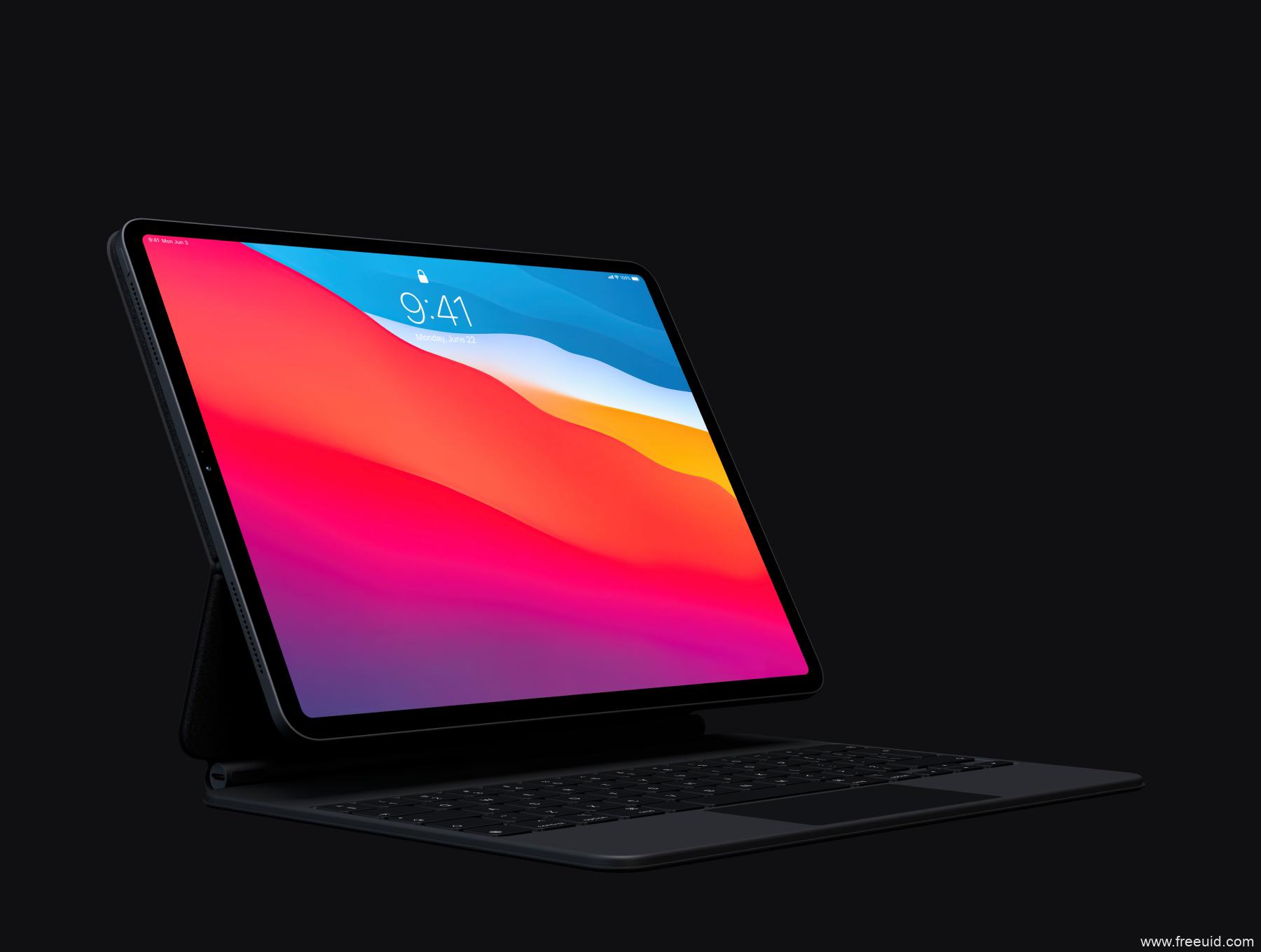超全iPad Pro 2020平板电脑样机mockup源文件,各个角度iPad pro样机psd源文件