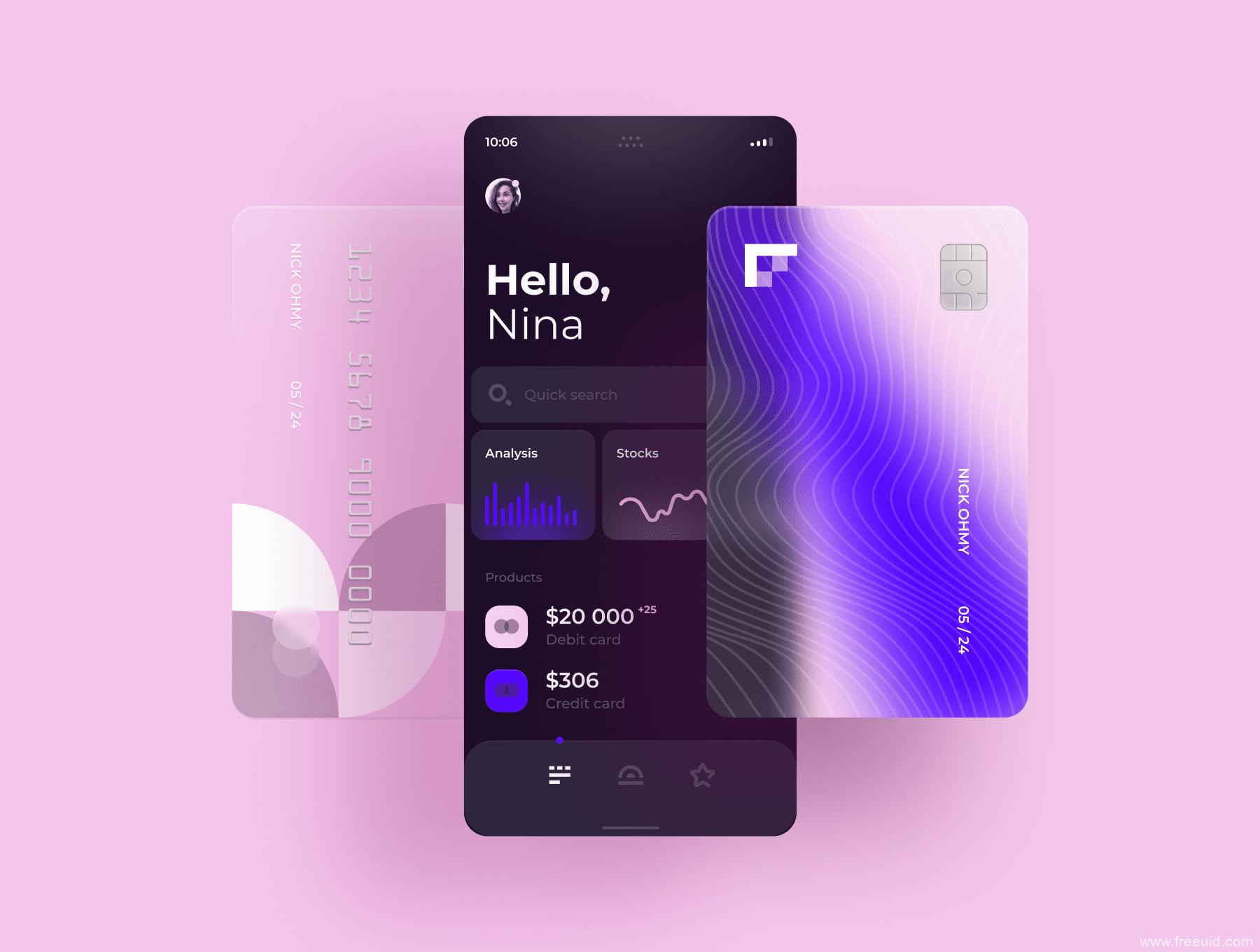 一套毛玻璃质感银行卡样机mockup源文件下载,信用卡样机figma原文件