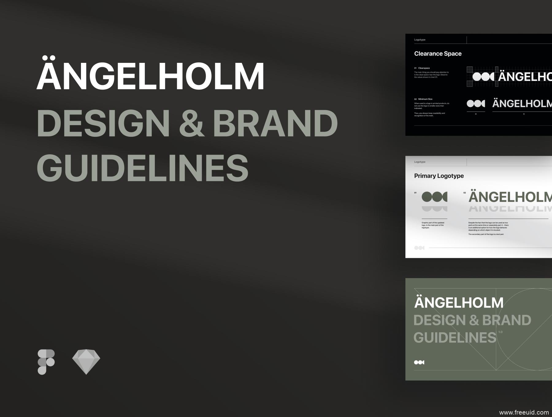 一套现代设计品牌包装模板sketch源文件,品牌包装规范VI视觉模板源文件