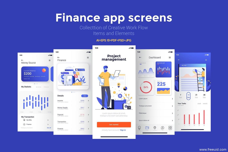 15套金融app UI界面源文件,金融应用UI资源界面设计psd源文件