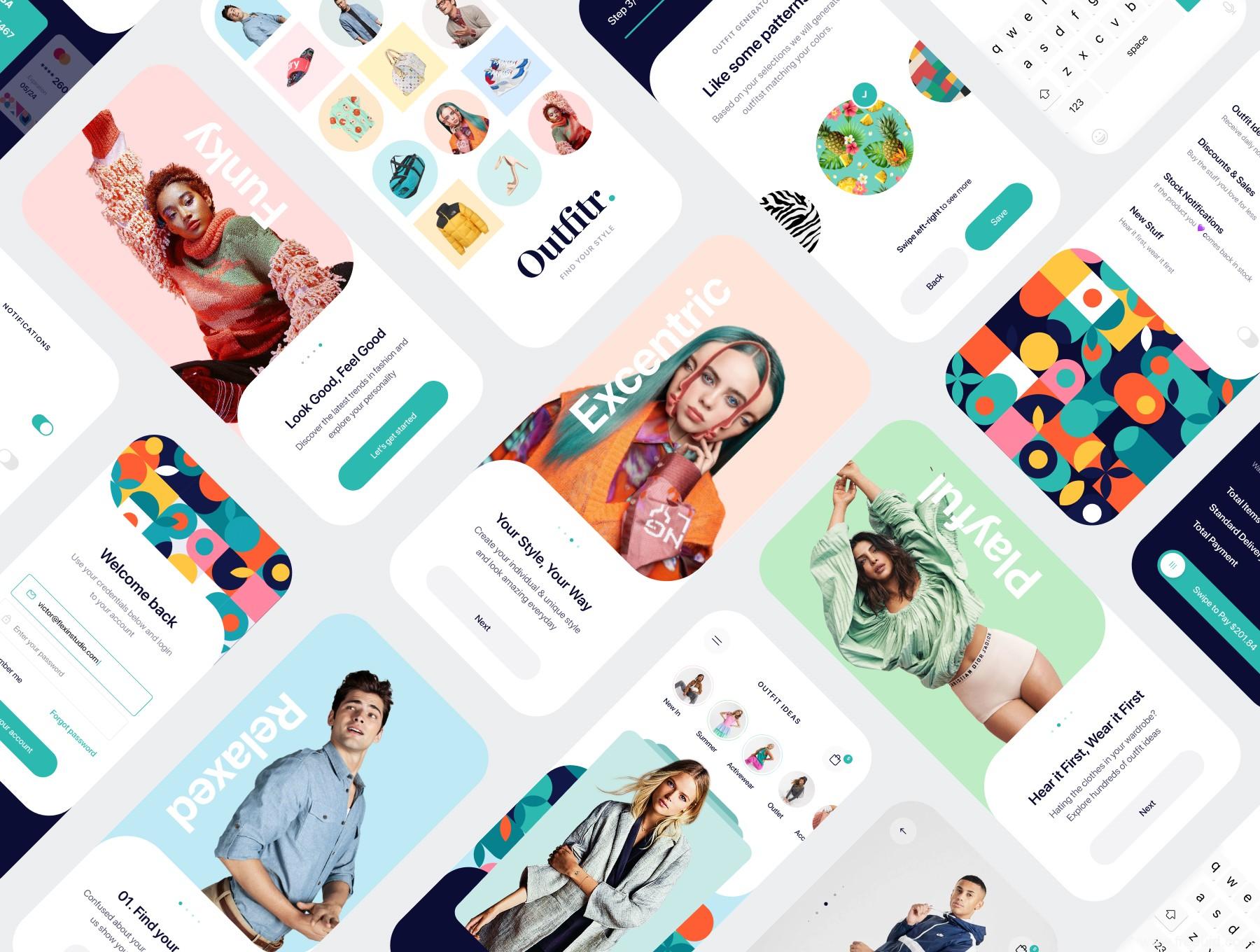 个性设计师app UI源文件,个性风格图片社交app UI素材源文件下载