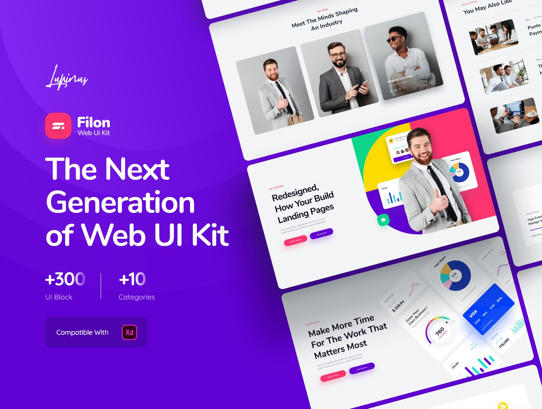 高端网页设计UI素材,个人网站UI界面设计源文件,高端企业网站作品集网站UI资源下载