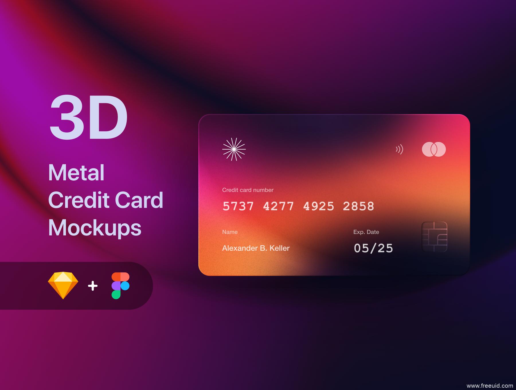 银行卡、信用卡mockup样机sketch源文件下载